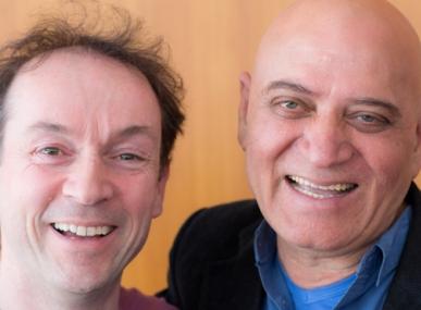 Dr Kataria et Fabrice Loizeau Congrès yoga du rire
